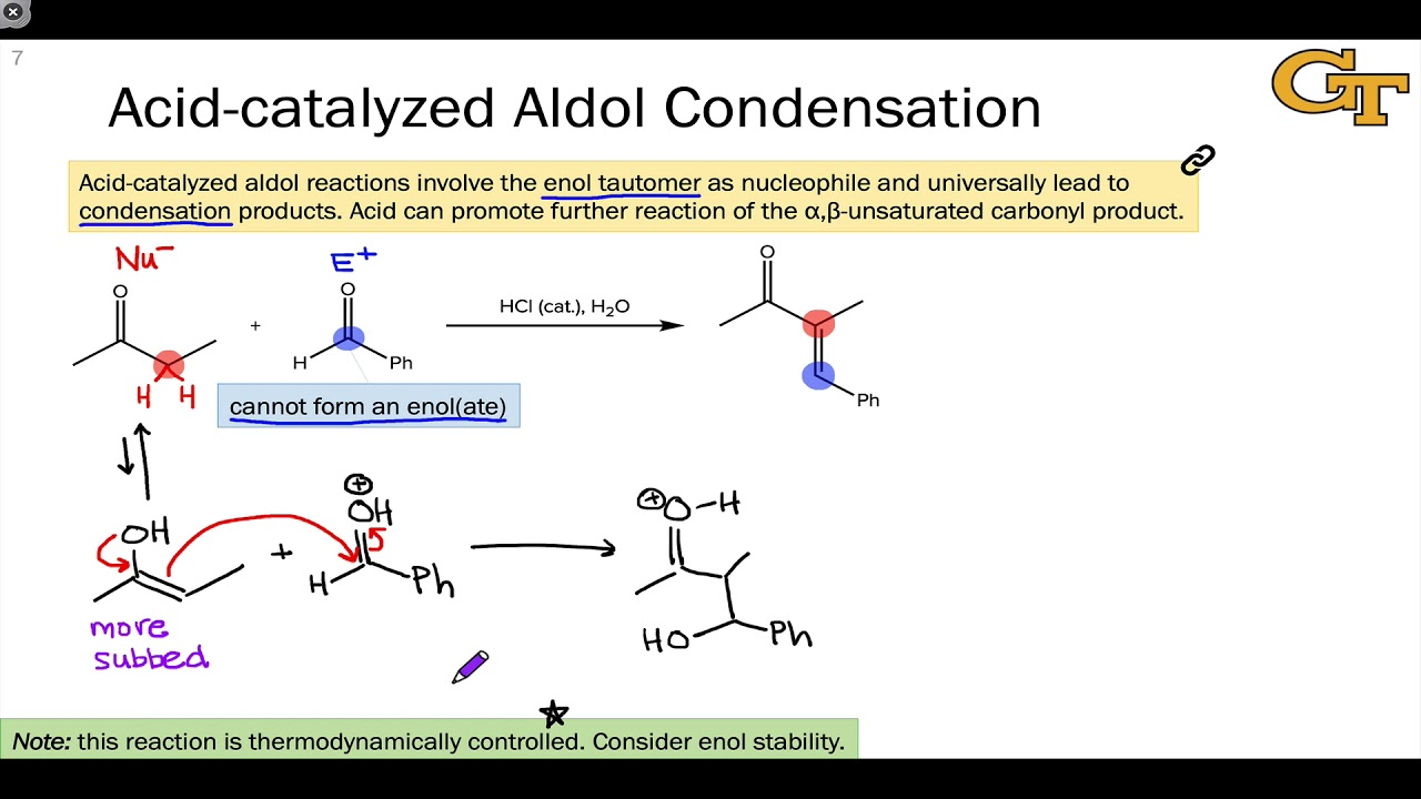 1204 Acid Catalyzed Aldol Condensations
