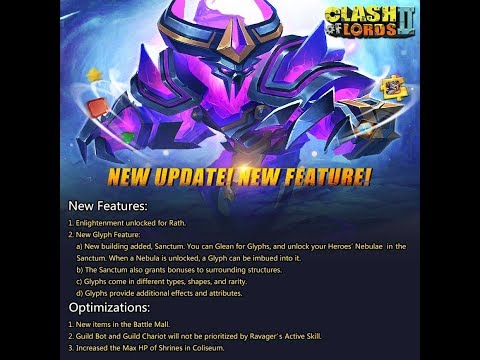 Clash of Lords 2 - NEW UPDATE RATH ENLIGHTENMENT GLYPHS SANC