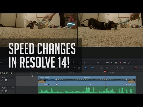 Slow Motion in Resolve 14!  - DaVinci Resolve Editing Speed Changes Tutorial
