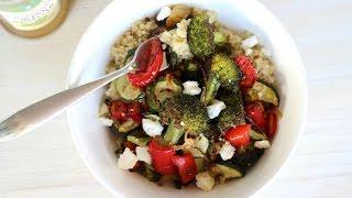 Dinner Recipe: Roasted Veggie Quinoa Bowl by CookingForBimbos.com