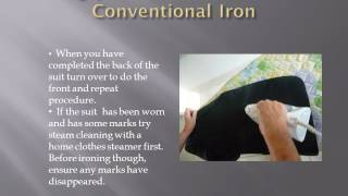 Ironing your suit with a Conventional Iron Thumbnail