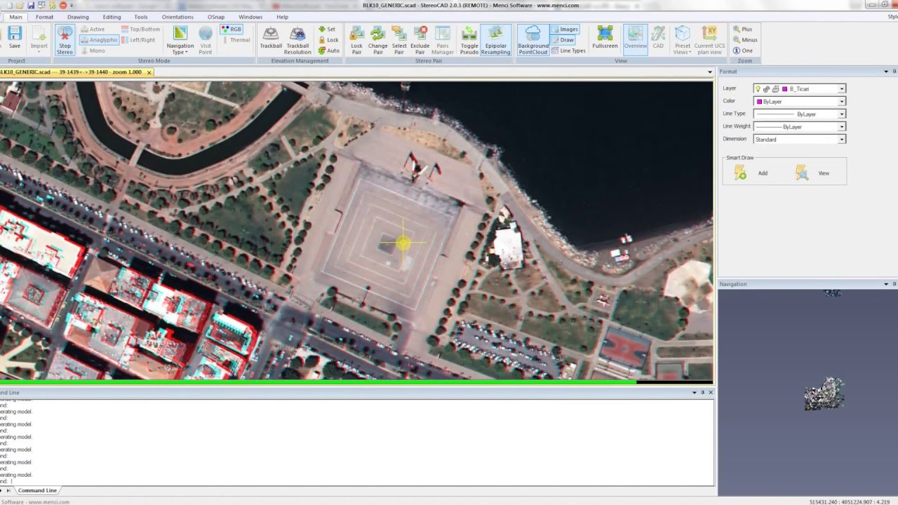 StereoCAD - StereoscopicCAD for drone images3D inspection