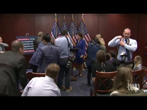 Kirsten Gillibrand and other lawmakers hold a news conference
