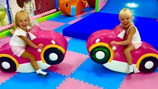 Mili and Stacy have fun playing at the Indoor Playground for kids