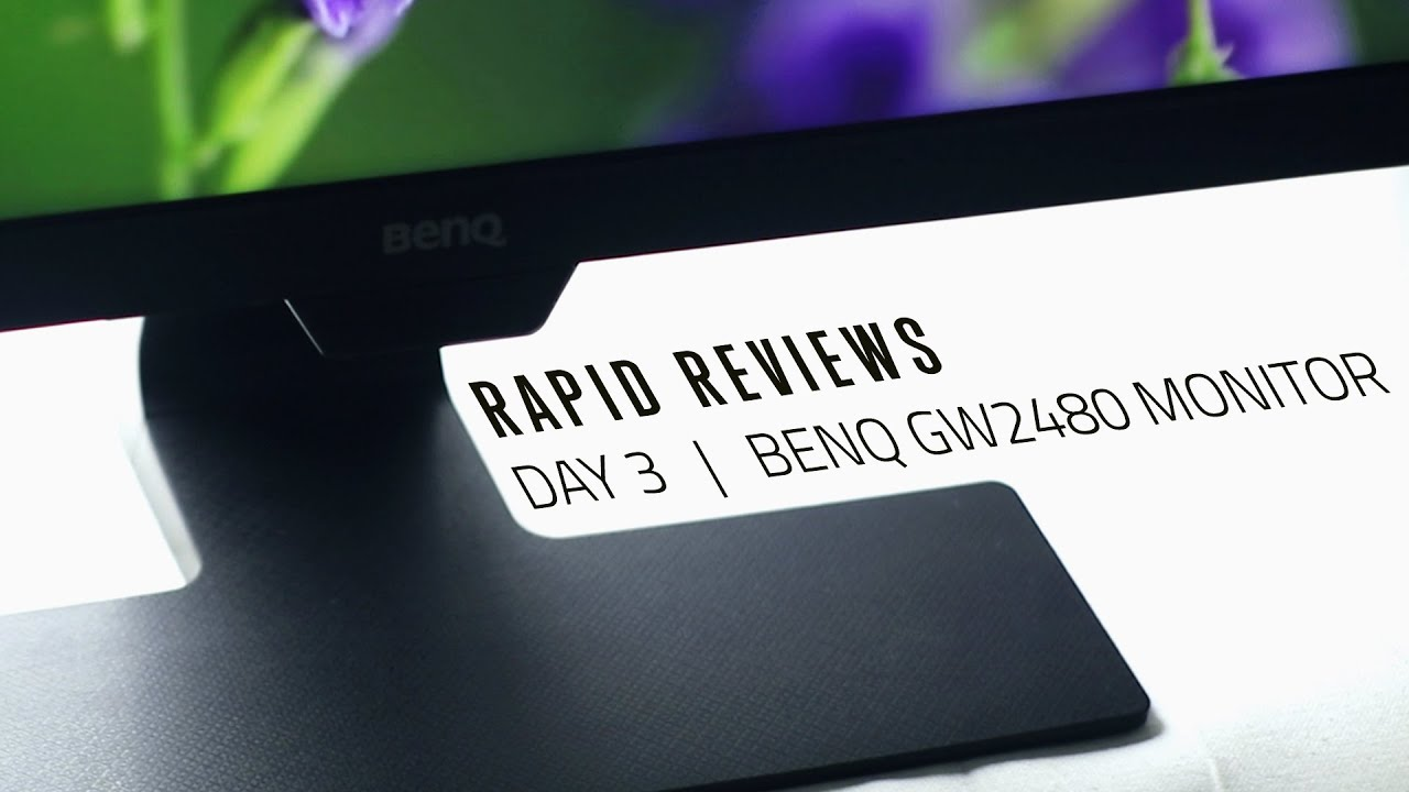 BenQ GW2480 monitor // Rapid Review - Day 3/7 - YouTube