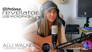 Recorded with the Revelator USB Microphone | Alli Walker - Country Music