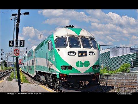 RAILREEL GO Transit Mimico and Union Station Toronto Ontario July 4 2017