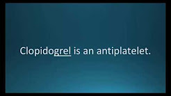 How to pronounce clopidogrel (Plavix) (Memorizing Pharmacology Flashcard)