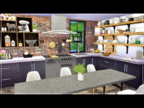The Sims 4| Apartment Build | Tumblr industrial  Studio Apartment (Speed Build) + CC Links