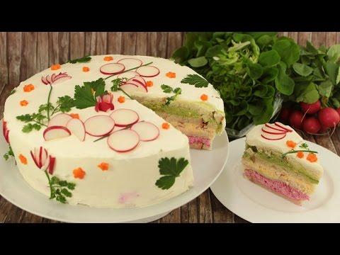 Smörgåstårta | schwedische Sandwichtorte| Smörgas-Torte | Sandwich Cake