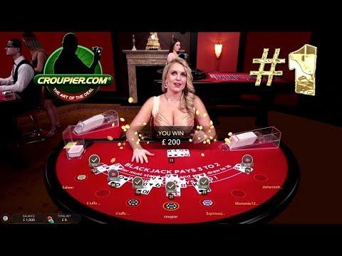 Online BLACKJACK VIP Dealer vs £1,000 PART 1 real Money Play at Mr Green Online Casino