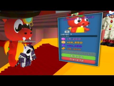 Buying Dragon Plushie Bubble Gum Simulator Roblox Youtube