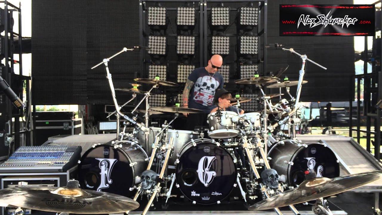 8 year old Alex Shumaker playing Florida Georgia Line Drummer Sean Fuller's Kit