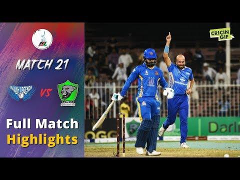 APLT20 2018 M21: Balkh Legends v Nangarhar Leopards Full Highlights - Afghanistan Premier League T20
