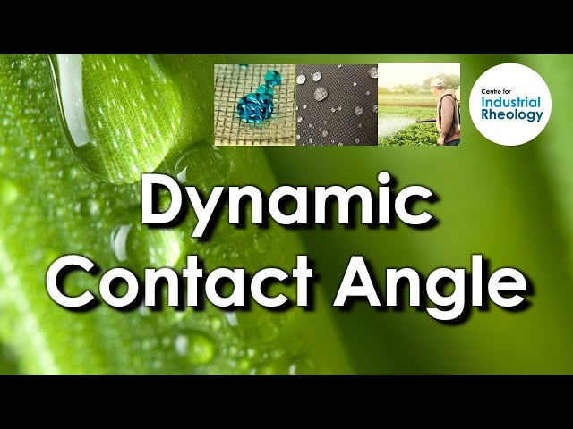Dynamic Contact Angle - Measuring advancing and receding contact angle and roll off angle.
