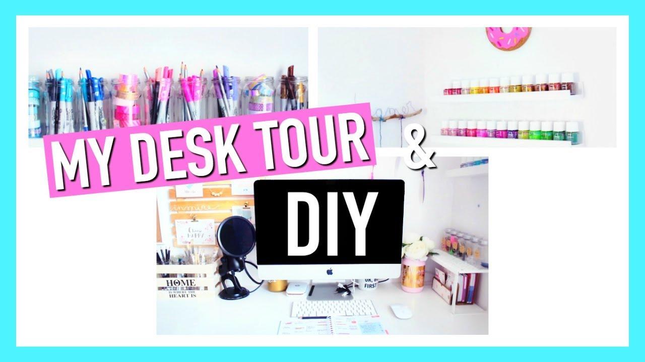 Astuces Organisation & Deco Bureau : Rangement DIY / MY DESK TOUR