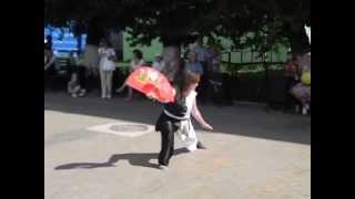 """Кристина Фомина ушу-клуб """"Кипарис"""" выступление в день города Перми"""
