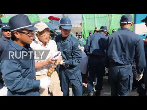 Japan: Sumo-esque scuffles break out as senior citizens detained at US military base