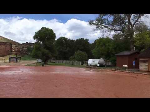 Medicine Lodge State Archaeological Site Flash Flood 6/7/15