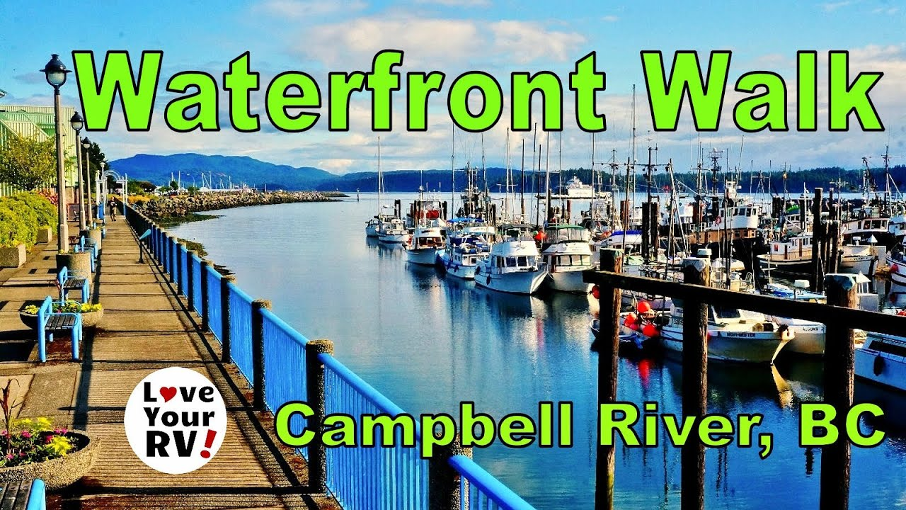 Morning Walk Along The Waterfront In Campbell River Bc