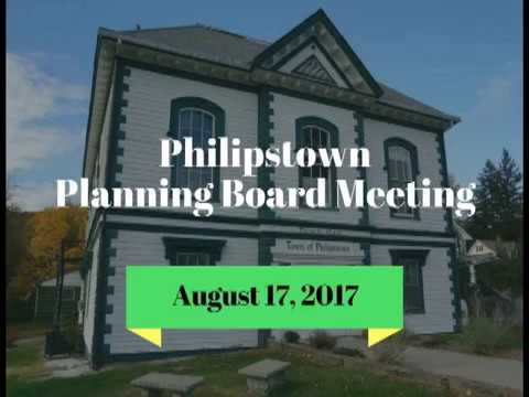 Philipstown Planning Board Meeting August 17, 2017