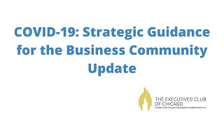 COVID-19: Strategic Guidance for the Business Community Update (2020)