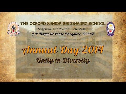 The Oxford Senior Secondary School Annual Day 2014 Intro Video