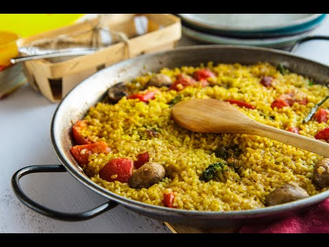 Vegetable Paella in the Wolf Convection Steam Oven
