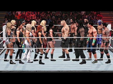 WWE 2K20 30 Man/Woman Intergender Royal Rumble Match!