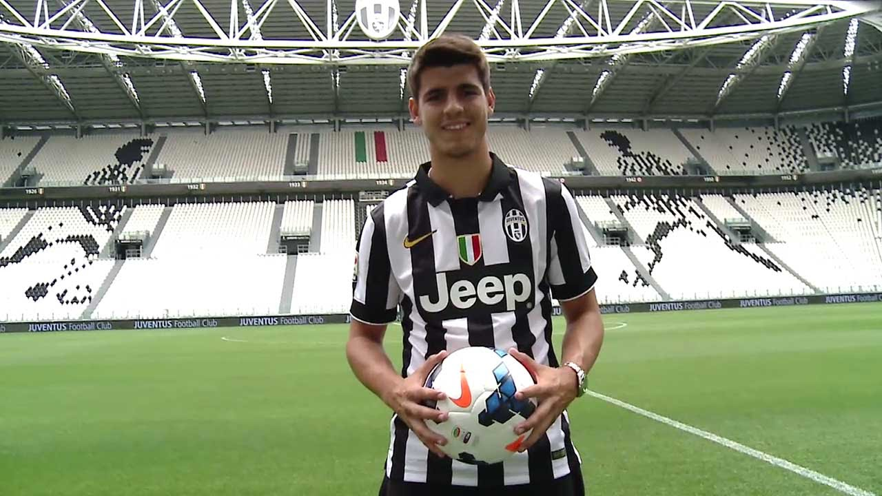 Morataday Alvaro Morata S First Day At Juventus Youtube