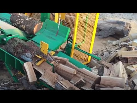 Amazing Homemade Invention 2018, Modern Homemade Firewood Processing Wood Cutting Chainsaw Machines