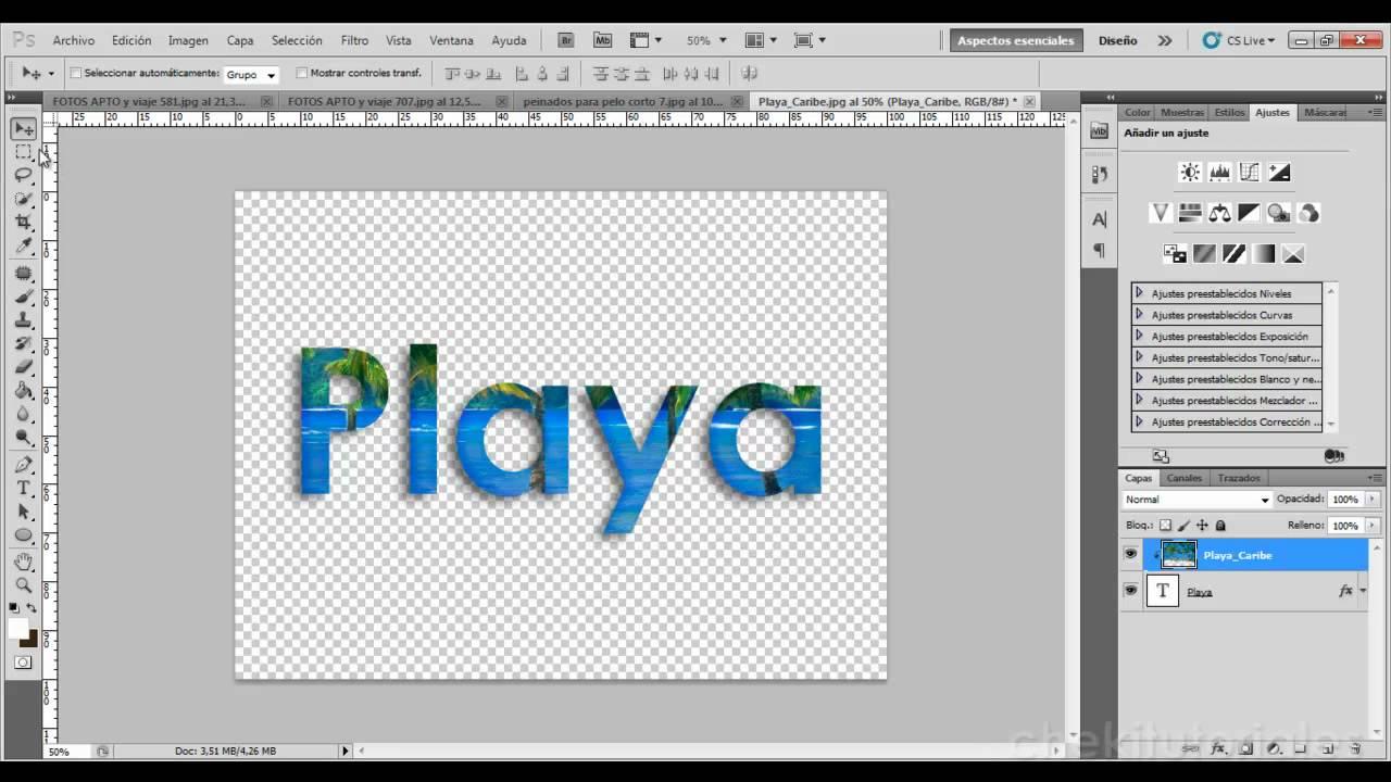 Fondos de letras para photoshop