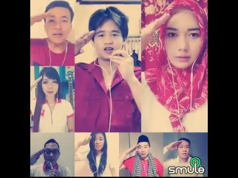 INDONESIA RAYA 3 STANZA With My Smule Friends