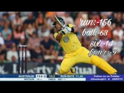 Aron finch fastest inning 156 at 63 balls  ||AUSTRALIA LOVER MUST WATCH||subscribe