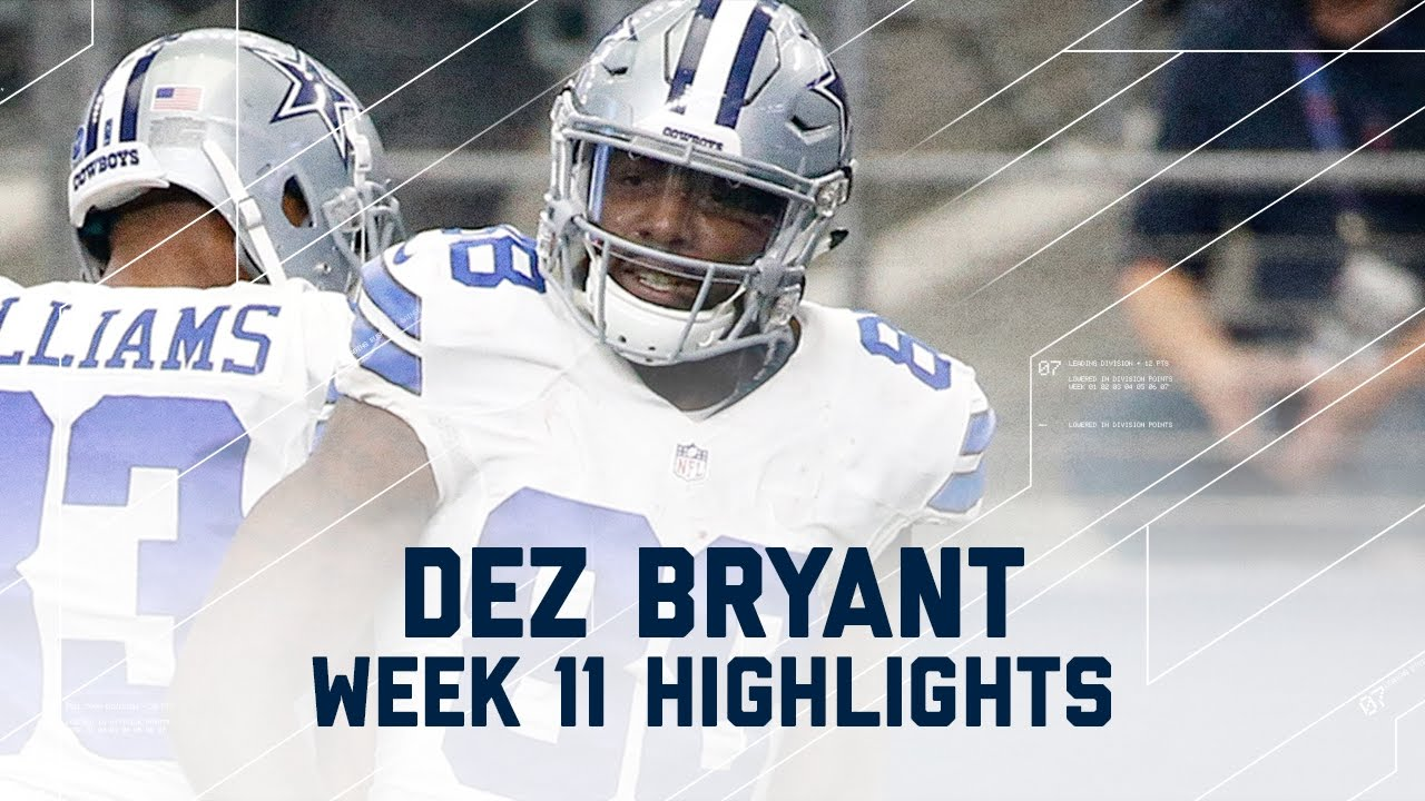Dez Bryant S 2 Td Day Ravens Vs Cowboys Nfl Week 11 Player Highlights