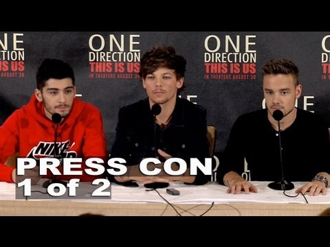 One Direction: This Is Us: Zayn Malik, Louis Tomlinson & Liam Payne Press Conference Part 1 Of 2