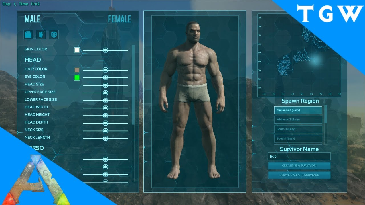 ARK HOW TO| Character creation #2