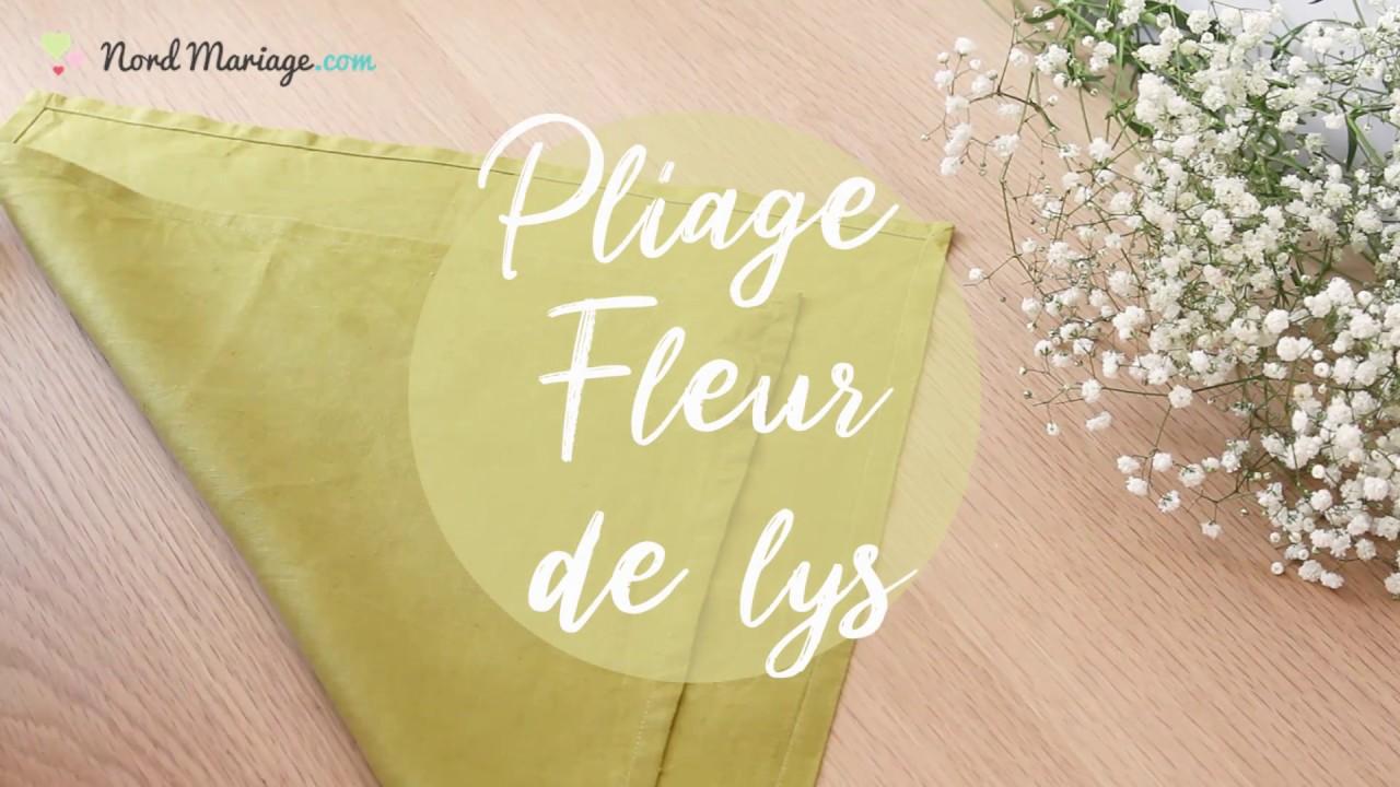 Pliage Serviette Facile Range Couverts pliage serviette fleur de lys