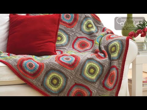 How to Crochet A Blanket: Circle in the Square Afghan