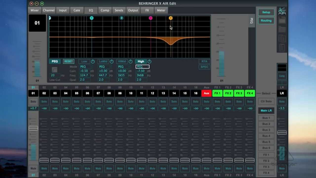 X AIR How To: Channel EQ (X AIR EDIT)