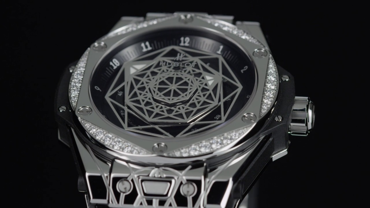 HUBLOT - BIG BANG SANG BLEU STEEL DIAMONDS