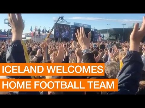 Iceland Welcomes Home Football Team (Package)