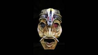 Wood Carving Art: Warrior Mask
