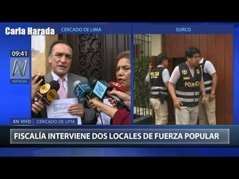 Juez Richard Concepción ordenó allanamiento de local de Fuerza Popular y oficina de Keiko Fujimori