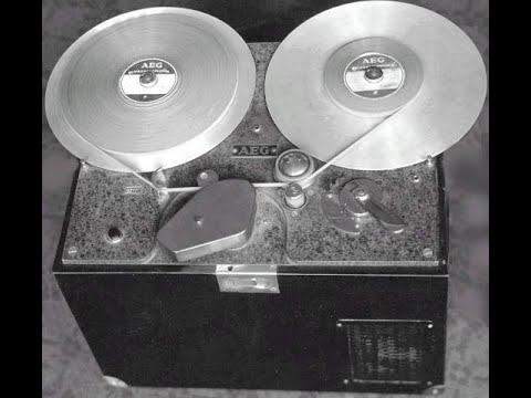 First tape recorded with 1934 AEG Magnetophon prototype