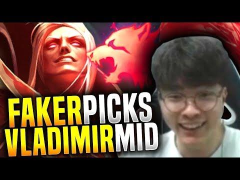Faker Plays Vladimir ft Bang Ezreal! - SKT T1 Faker Picks Vladimir Mid!   SKT T1 Replays