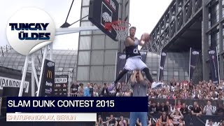 "Jordan Kilganon and Rafal Lipek with an ""EPIC BATTLE"" at the #Shutupandplay Slam Dunk Contest 2015"