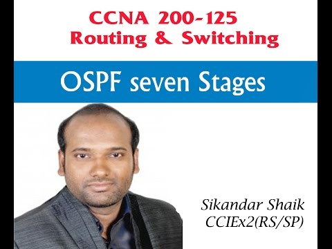 OSPF seven Stages - Video By Sikandar Shaik || Dual CCIE (RS/SP) # 35012