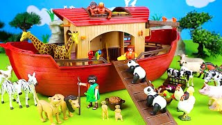 Wild Zoo Animals - Playmobil Animals Noah's Ark Building Sets - Fun Toys For Kids Video
