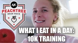 WHAT I EAT IN A DAY AS A RUNNER | Peachtree Prep #4